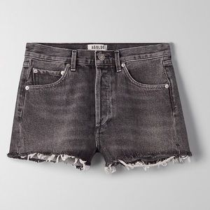 Agolde Black Wash Jaden Shorts